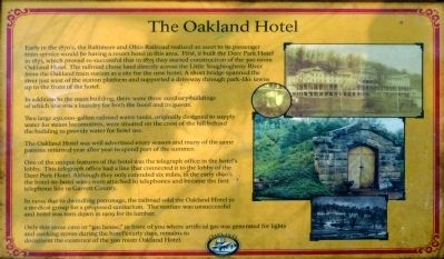 The Oakland Hotel Marker image. Click for full size.