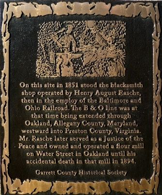 Rasche Blacksmith Shop Marker image. Click for full size.