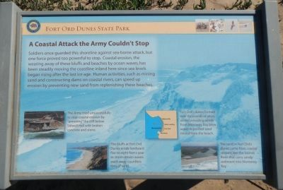 A Coastal Attack the Army Couldn't Stop Marker image. Click for full size.