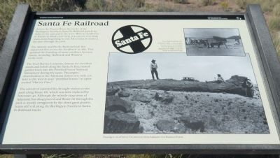 Santa Fe Railroad Marker image. Click for full size.