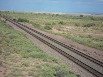 Burlington Northern Santa Fe Railroad Tracks image. Click for full size.
