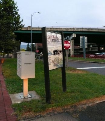 Cumberland Terminus: <i>Yesterday and Today</i> Marker image. Click for full size.