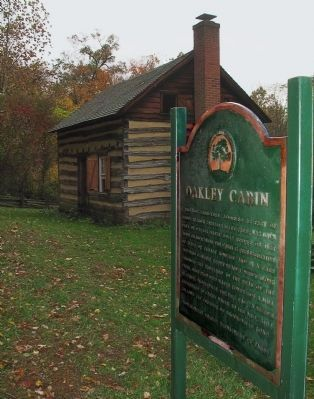 Oakley Cabin Marker image. Click for full size.