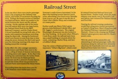 Railroad Street Marker image. Click for full size.