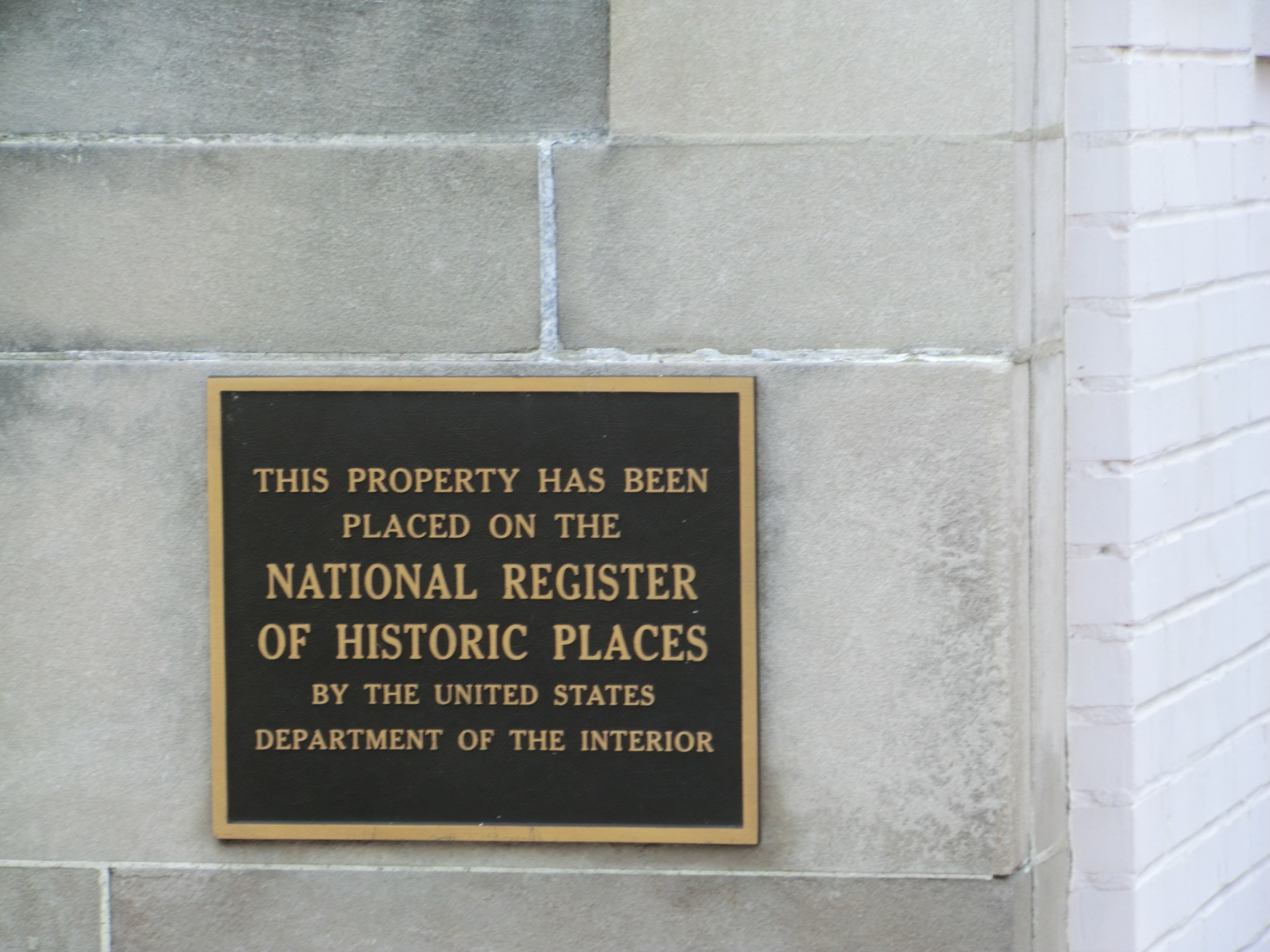 First National Bank Marker