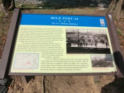 Mile Post 42 Marker image. Click for full size.