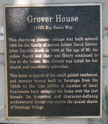 Grover House Marker image. Click for full size.