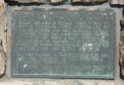 San Luis Camp Adobe Marker image. Click for full size.