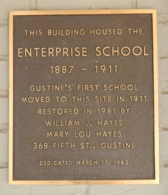 Enterprise School Marker image. Click for full size.
