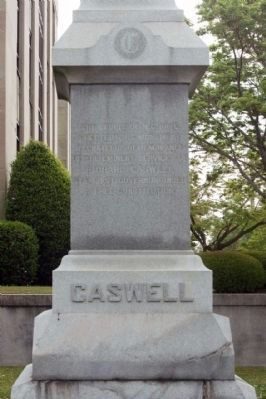 Caswell Marker, west face image. Click for full size.
