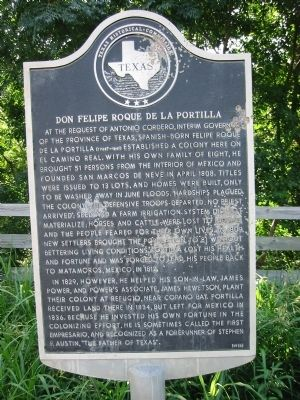 Don Felipe Roque de la Portilla Marker image. Click for full size.