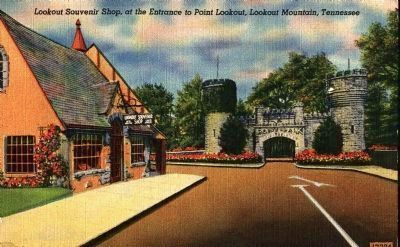 Point Park Souvenir Shop and Entrance image. Click for full size.
