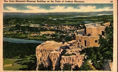 The Ochs Memorial Museum Building on the Point of Lookout Mountain image. Click for full size.