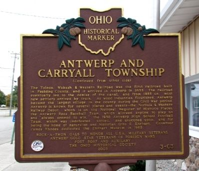 Antwerp and Carryall Township Marker image, Touch for more information