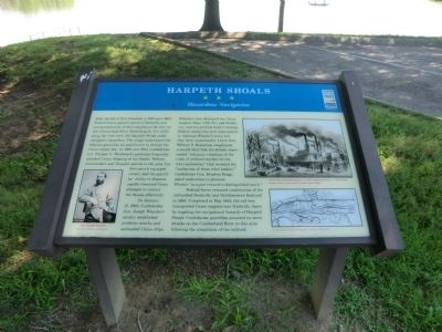 Harpeth Shoals Marker image. Click for full size.