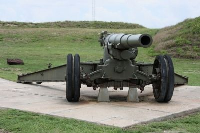 "U.S. Model 1918M1 155mm Gun ""G.P.F."" on display at Fort Morgan image. Click for full size."