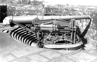 12-inch gun M1895 on a disappearing carriage. image. Click for full size.