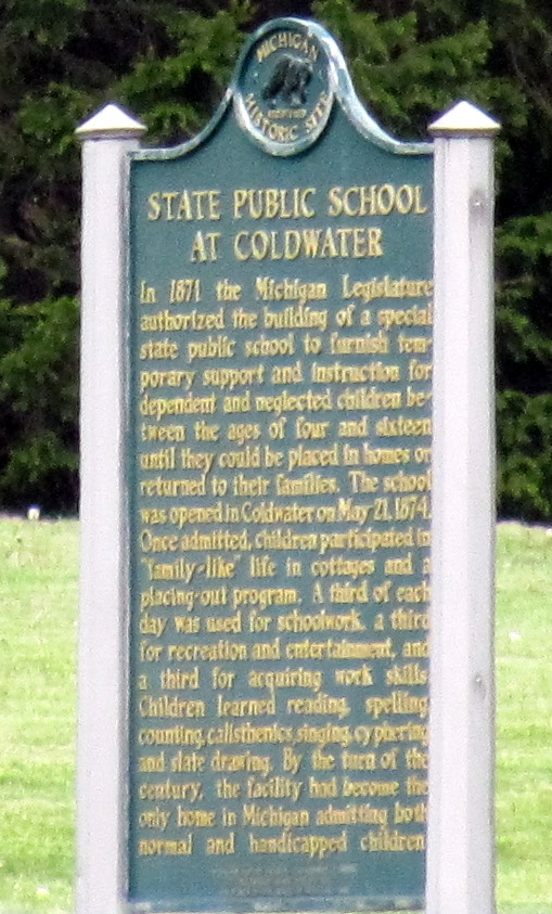 State Public School at Coldwater / Coldwater Regional Center Marker