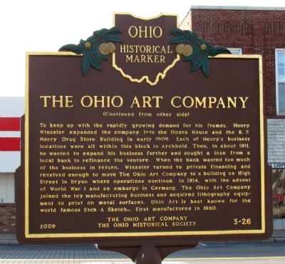 The Ohio Art Company Marker image. Click for full size.