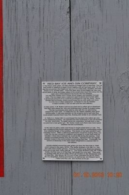 Red Bay Ice and Gin Company Marker image. Click for full size.