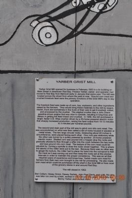 Yarber Grist Mill Marker image. Click for full size.