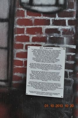 Bay Theater Marker image. Click for full size.