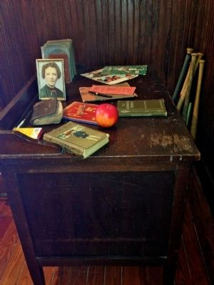 Red Bay School Teachers Desk image. Click for full size.
