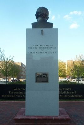 Walter Reed Monument, south face image. Click for full size.