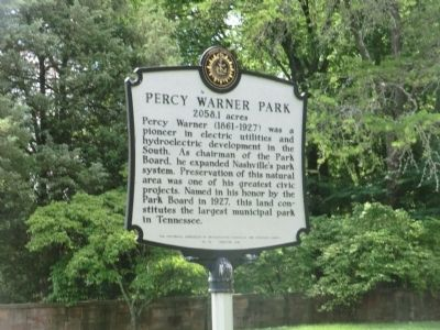 Percy Warner Park Marker image. Click for full size.