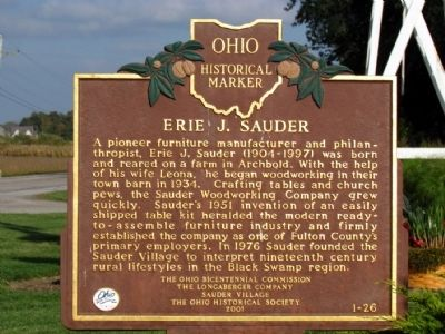 Erie J. Sauder Marker image. Click for full size.