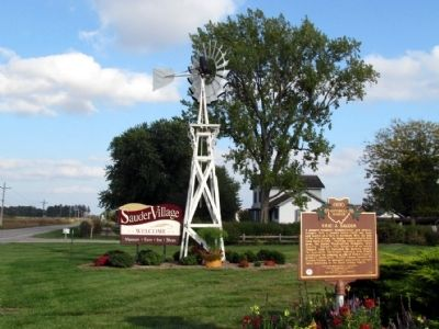 Erie J. Sauder Marker at Sauder Village image, Touch for more information
