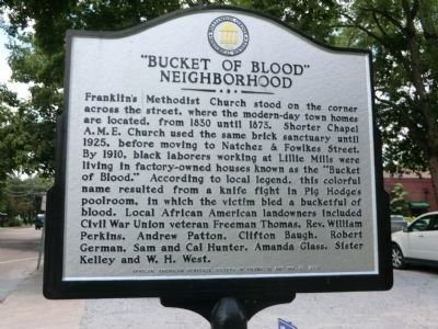 """Bucket of Blood"" Neighborhood Marker (side 2) image. Click for full size."