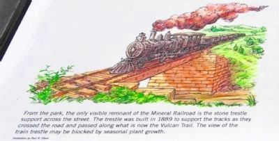 Mineral Railroad Trestle Marker image. Click for full size.