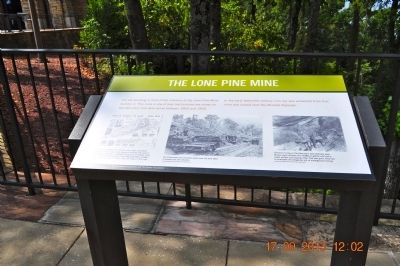 The Lone Pine Mine Marker image. Click for full size.