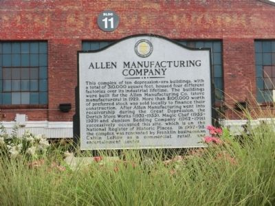 Allen Manufacturing Company Marker image. Click for full size.