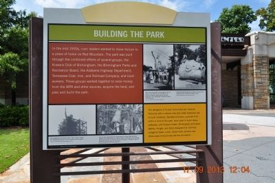 Building The Park Marker image. Click for full size.