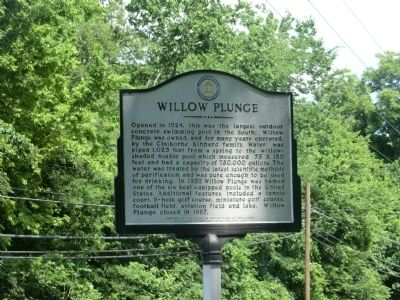 Willow Plunge Marker image. Click for full size.
