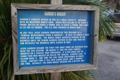 Karrick's Grocery Marker image. Click for full size.