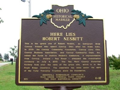 Here Lies Robert Nesbitt Marker image. Click for full size.