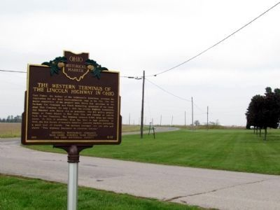 The Lincoln Highway as viewed from the marker image. Click for full size.