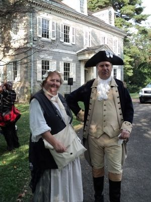 Gen. and Mrs. Washington at the Upsala mansion. image. Click for full size.