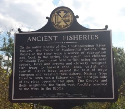 Ancient Fisheries Marker image. Click for full size.