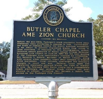 Butler Chapel AME Zion Church Marker image. Click for full size.
