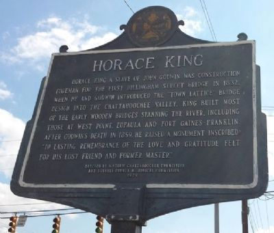 Horace King Marker (side 1) image. Click for full size.
