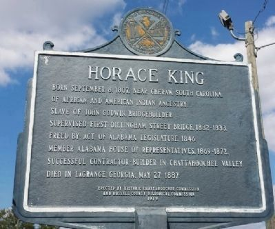 Horace King Marker (side 2) image. Click for full size.