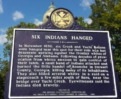 Six Indians Hanged Marker image. Click for full size.