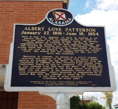 Albert Love Patterson Marker (side 1) image. Click for full size.