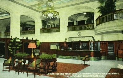 The Tutwiler - Lobby with Office and Mezzanine image. Click for full size.