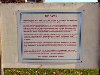The Bayou History Sign image. Click for full size.