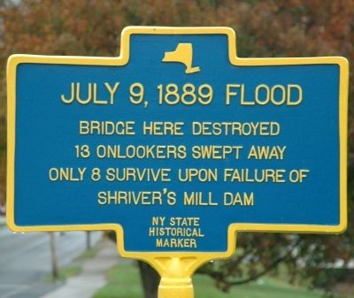 July 9, 1889 Flood Marker image. Click for full size.